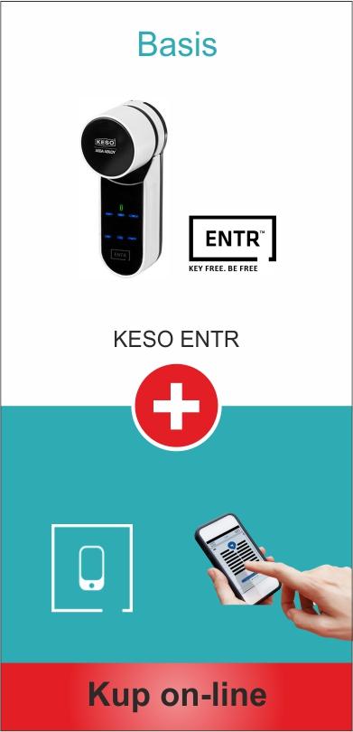 Zamek otwierany smartfonem Keso Entr