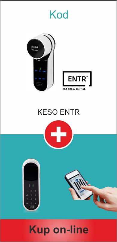 Otwieranie drzwi kodem Keso Entr